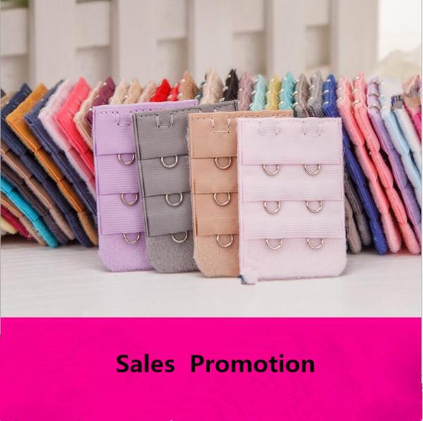 best selling 3 Rows 2 Ladies women Bra Extenders Nylon Clasp Strap useful Bra Strap Extender MultiColor YYA125