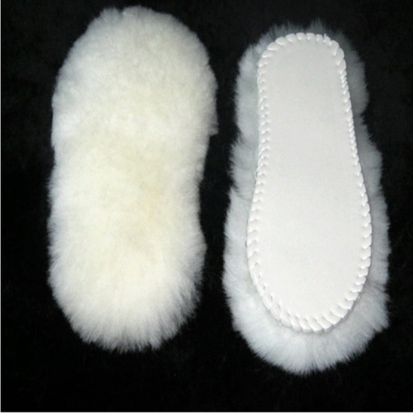 Unisex Insoles for Snow Boots Thick Shoe Real Fur 100% Cashmere Sheepskin Wool Thermal Insoles Warm Soft for Shoes Size 35-45