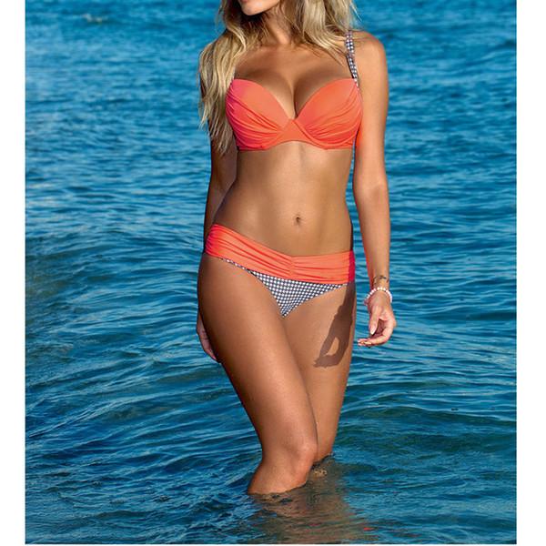 2017 Summer Bikini Swimwear Women Sexy Bench Swimsuit Bathing Suit Push Up Low Waist Brazilian Bikinis Brand New 12 Style