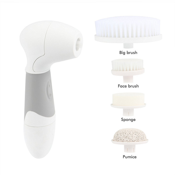 Electric Facial Brush Cleanser Massager Scrubber Face Cleaning Brushes Spa Face Skin Care Device Kits with box package by DHL