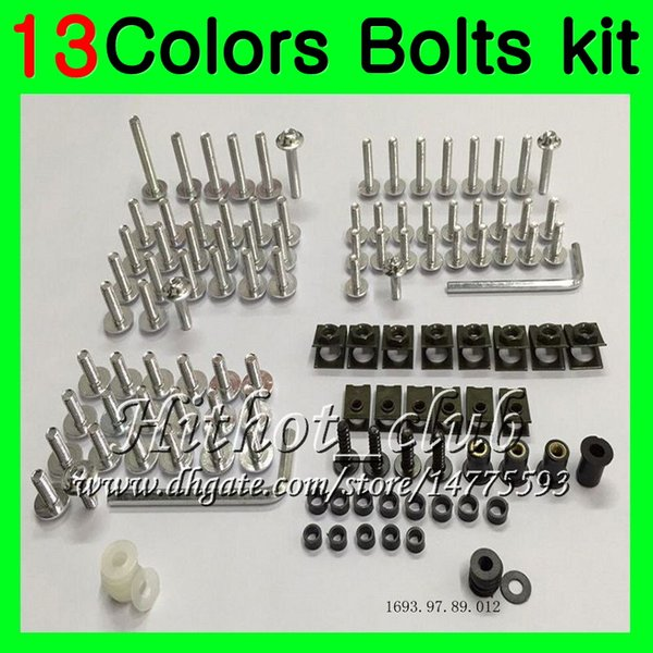 Fairing bolts full screw kit For KAWASAKI NINJA ZX9R 00 01 02 03 ZX-9R 9 R ZX 9R 2000 2001 2002 2003 Body Nuts screws nut bolt kit 13Colors
