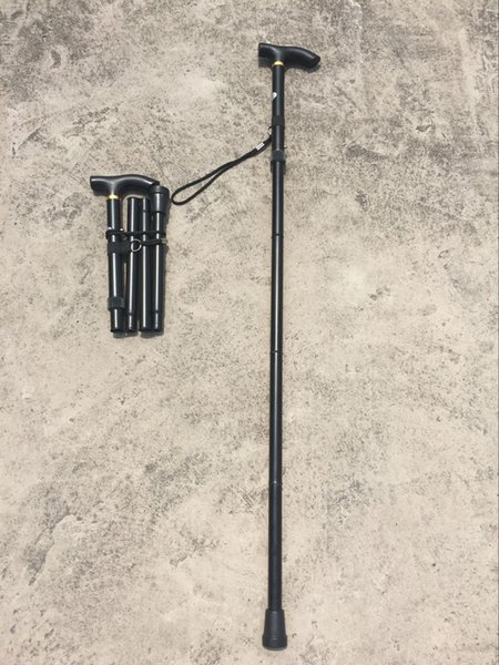 Factory direct alpenstocks telescopic folding crutch stick five stick containing old crutches