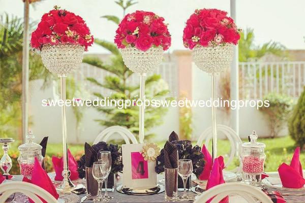 New decor design elegant trumpet shape cylinder crystal glass vase with flower pattern for home decoration
