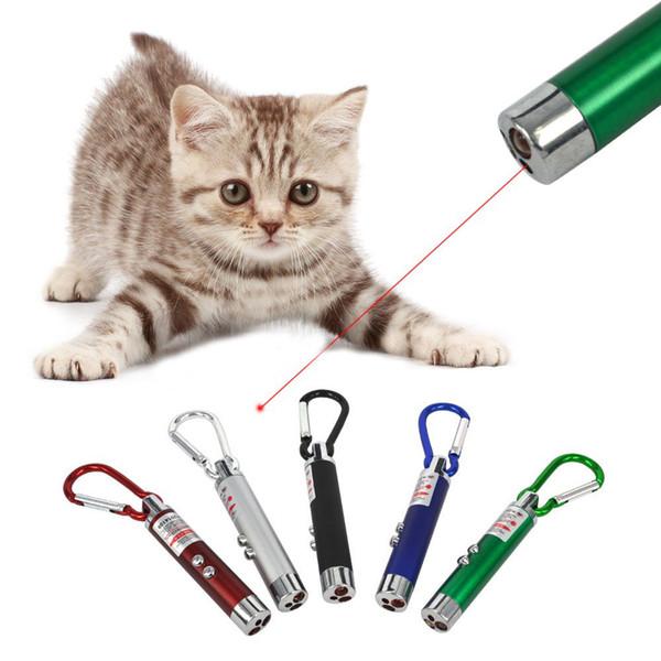3 in 1 Red Laser Pointer LED Mini Flashlight Aluminum Alloy Torch Money Detector Key Chain