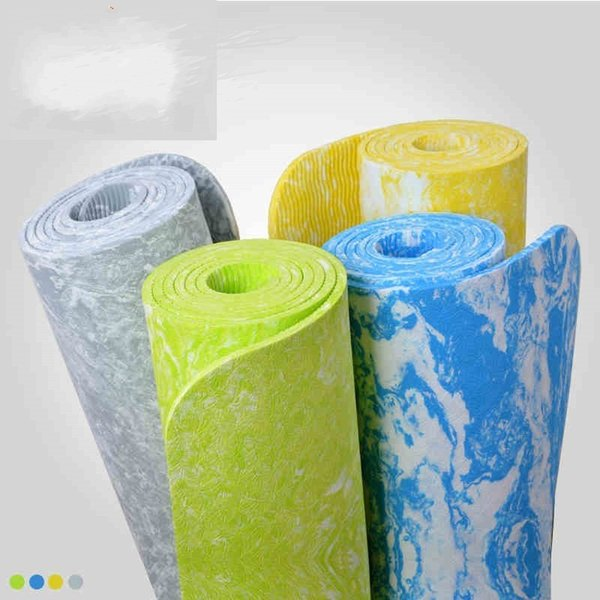 Lengthen Yoga Mat Non Slip Bodybuilding Sports Mats 6mm Beginner New Pattern Pad Lithe Camouflage Non Slip Easy To Carry Pads 40yj J