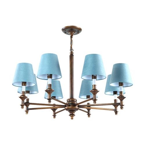 Modern LED blue with shade Crystal Chandelier Lights Lamp For Living Room Light Ceiling Fixture Indoor Chandeliers Home Decorative