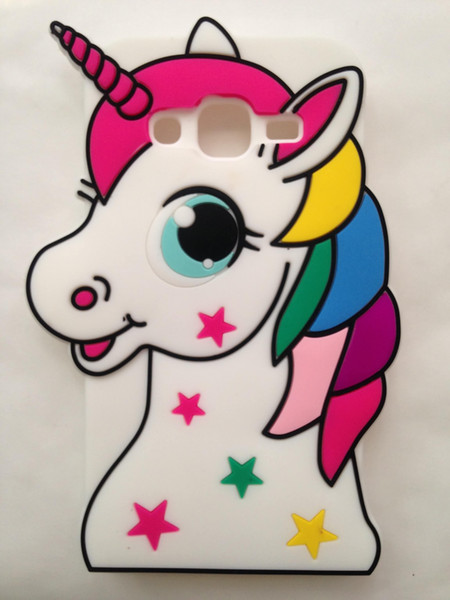 Cute 3D Cartoon Lovely Animal Design Soft Silicone Rubber Back Case Cover Compatible With Samsung Galaxy Grand Prime G530