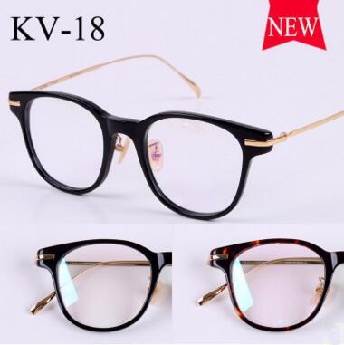 Gold glass frame VINTAGE frames KV-18 male ultralight myopia restoring ancient ways smooth light round framework