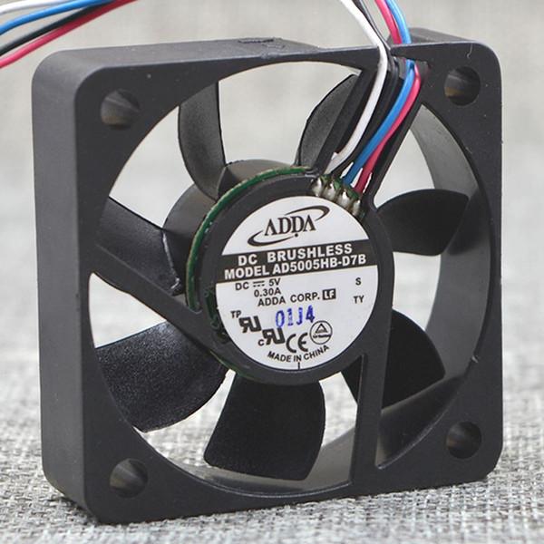 best selling ADDA AD5005HB-D7B 5015 50*50*15mm DC 5V 0.30A 5CM 4p PWM cooling fan