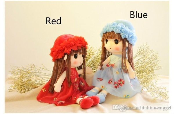 2017 Hot plush Toys Cute Flower Fairy Mayfair Child Doll 5 Colors Placate Doll Cushions Birthday Gifts Girls