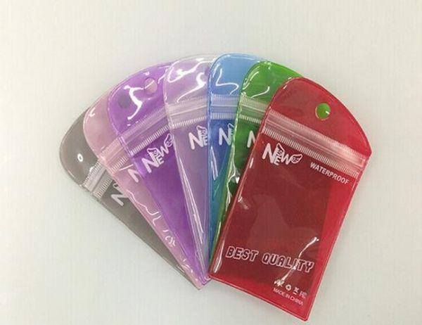 Sac d'emballage en PVC pour téléphone portable Smart Phone Eletronic accessoires Etui cellulaire écouteurs shopping Étanche Auto Zip Up Hang Bag 6 tailles différentes