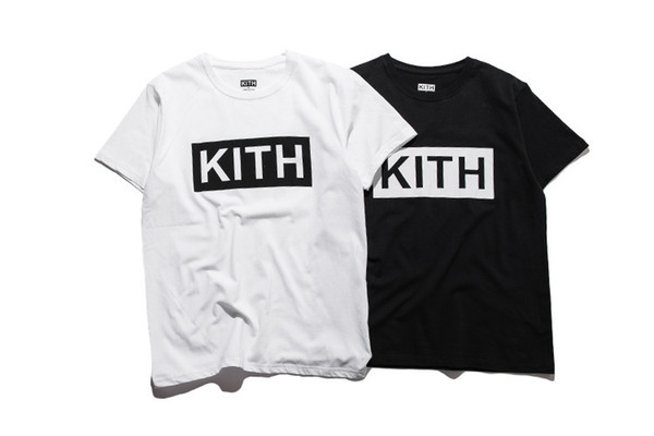 Homme Vêtements Eté Hommes T-shirts KITH Fashion Letters T-shirt imprimé Cool manches courtes T-shirt ras du cou Homme Femmes Blanc Noir Tops
