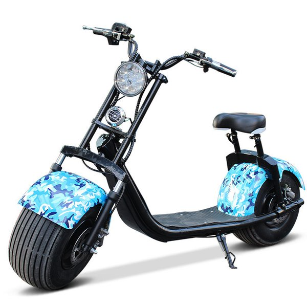 Harley 1000W litio bicicleta eléctrica scooter eléctrico rueda fricción amortiguación retro roadster