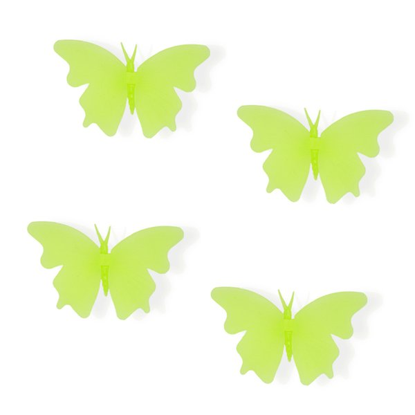 Diy butterfly kids wall sticker for kids room glow in the dark wall stickers home decor living room fluorescent poster LF-038