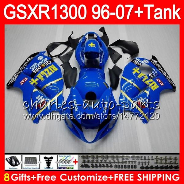 8Regalos 23Colores para SUZUKI Hayabusa GSXR1300 96 97 98 99 00 01 15HM35 negro azul GSXR 1300 GSX R1300 GSXR-1300 02 03 04 05 06 07 Carenado