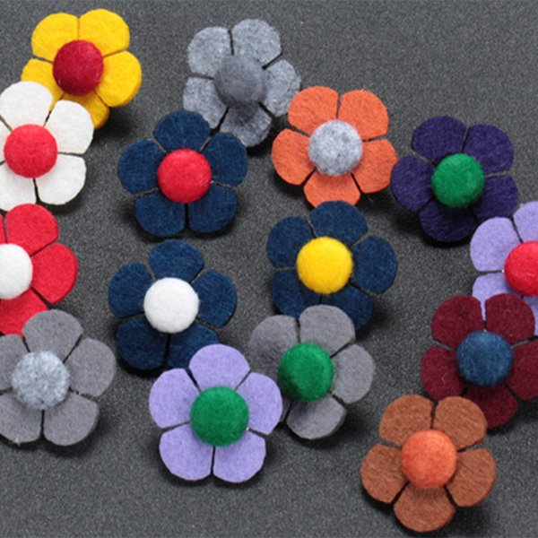 New Fashion Men Brooch Mini Flower Lapel pin suit Boutonniere fabric button Stick butterfly Male Brooches Broches for Groomsmen Hijab Pins