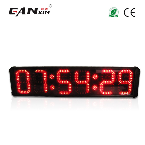[Ganxin]8inch 6 Digits Large Led Display Red digital clock with Remote Control Wall Clock Countdown timer