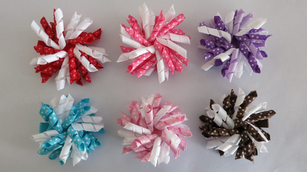 36pcs /Set Corker Pony Streamer Colorful With Clips Hair Accessories Kids Floral Headwear Little Girl Children Hairpins Cute