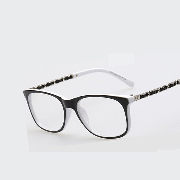Al por mayor- Nuevas mujeres Gafas cuadradas Marco Óptico Marcos de anteojos Miopía Gafas Gafas graduadas para hombres Lente transparente Gafas de Grau