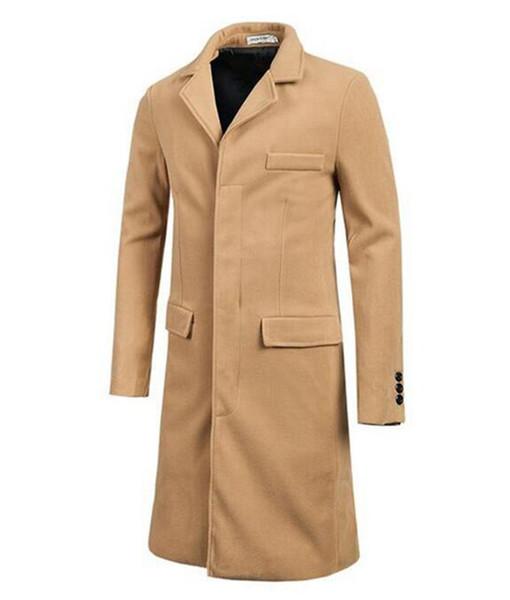 Mann Winter in Europa und den Vereinigten Staaten neue han-Ausgabe Modeboutique lange woolen Tuch Trenchcoat / M-2XL