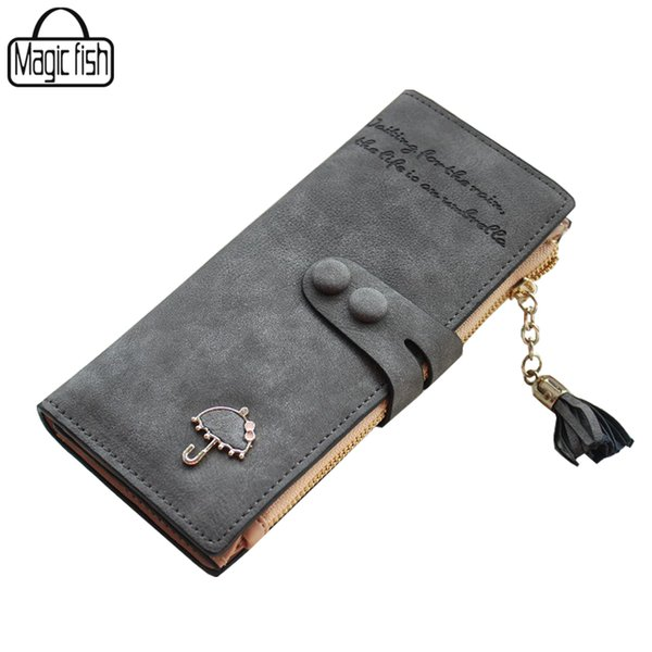 Wholesale- Women's Purse High Quality Design With Umbrella Women Wallet Long Style Luxury Design Brands Cute Girl Leather Purse C0440/l