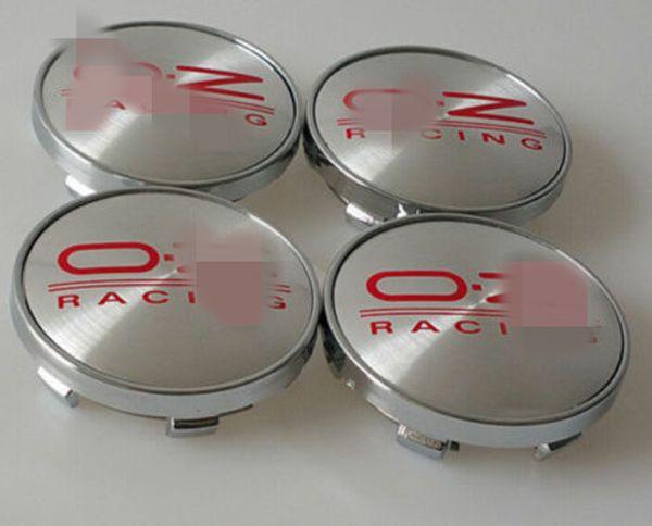 SET OF 4 OZ RACING ALLOY WHEEL CENTER HUB CAPS 60mm RED EMBLEM LOGO O.Z