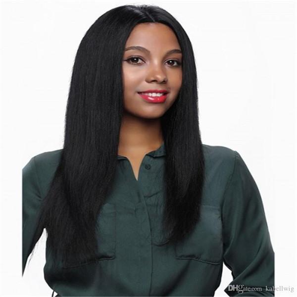Luxuriöse Advanced silk simulation kopfhaut 5,5 * 5,5 Basis Volle Spitzeperücke Gerade Brasilianisches Remy Menschenhaar Für Schwarze Frauen Natürliche Farbe Schwarz