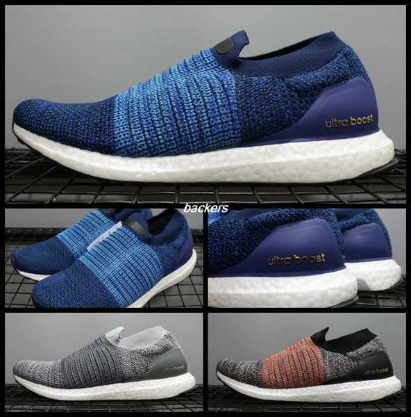 Men Athletic UB Ultra Boost Uncaged Laceless 4.0 5.0 UB Slip On Brand Male Lightweight Blue Ultra Boosts Sports Running Sneakers Shoes 40 45 Womens