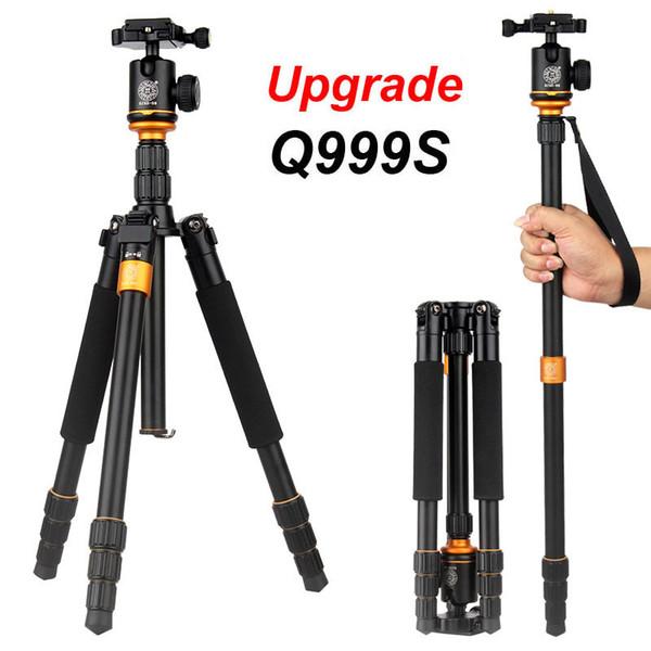 1PCS New Upgrade Q999S Professional Photography Portable Aluminum Ball Head+Tripod To Monopod For Canon Nikon Sony DSLR Camera