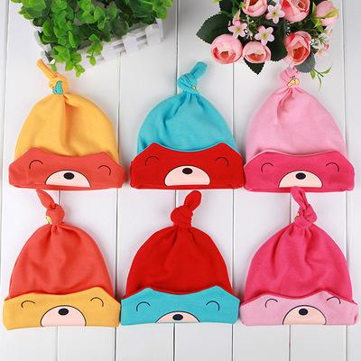 6 Colors Autumn Winter Cute Animal Cotton Baby Caps Warm Newborn Hats for 3-36 months DHL Shipping