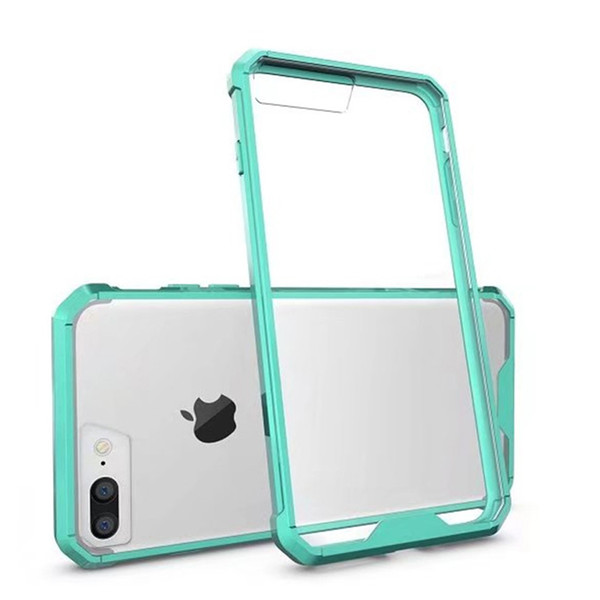 Klare Hülle transparent für iPhone 6 6S 7 Plus Crystal Heavy Duty stoßfest harte Schutzhülle klare Acryl-Vitrine