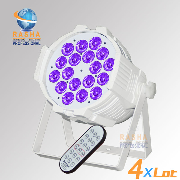 4X LOT Stock Wireless High Quality 18* 18W 6in1 RGABW UV LED Par Light Aluminum LED Par Can For Stage Event Par64 Party Light