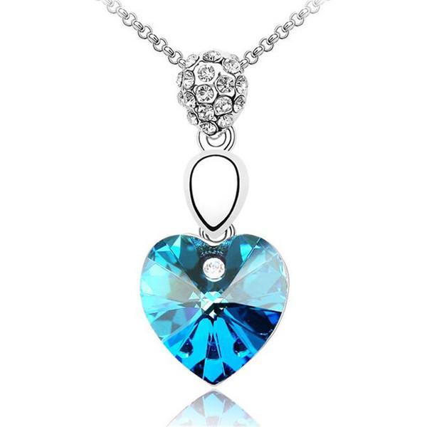 Cristales corazón collar colgante Hermoso partido mujeres joyería hecho con cristales de Swarovski Elements 1097