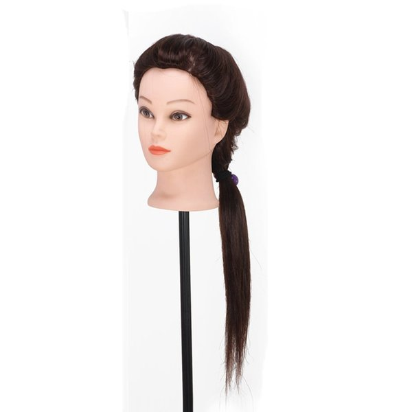 """22"""" 100% Synthetic Hair Training Head Student Mannequin Hairdressing Practice Makeup Cut Hair + Clamp Free Shipping"""