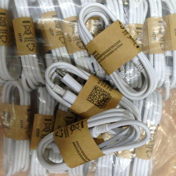 1000 unids para samsung s4 cable de buena calidad paquete de papel wrap Micro USB Data sync Cable del cargador para Samsung galaxy s3 s4 Nota 4