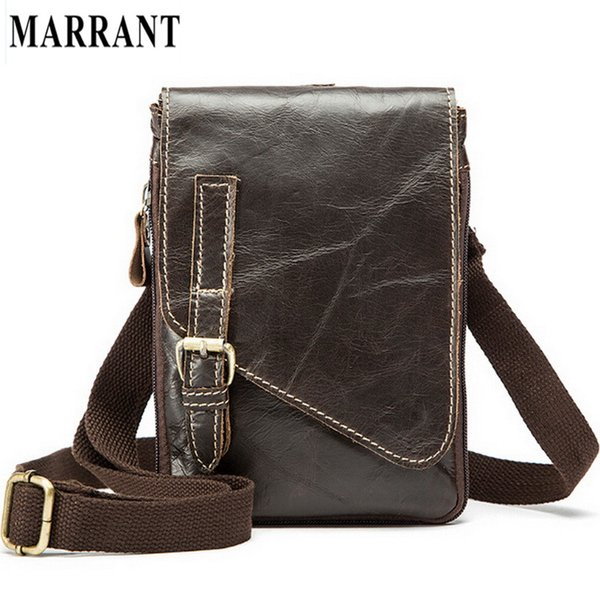 Wholesale- MARRANT Hot Sale Genuine Leather Men Bags Men's Casual Travel Bag Man Crossbody Shoulder Handbag Belt Messenger Men Bags 8899