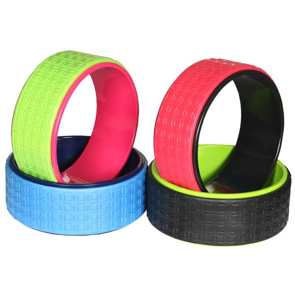 Wholesale-1 PCS New Design Candy Color ABS+EVA 33*13cm Yoga Wheel Circle For Pilates Yoga Balance Training Fitness Equipment Free Ship