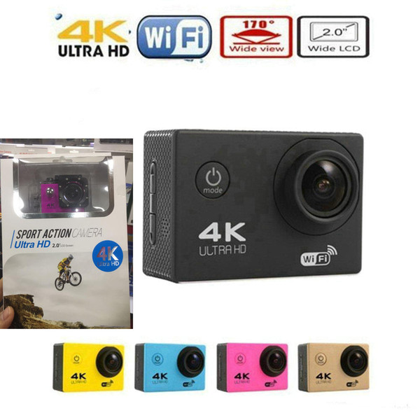 "best selling 4K Sports Camera HD Action 2"" WIFI Diving 30 Meter Waterproof Cameras 1080P Full HD 140° Camera Cameras Sport DV Car colors cheapest JBD-M7"