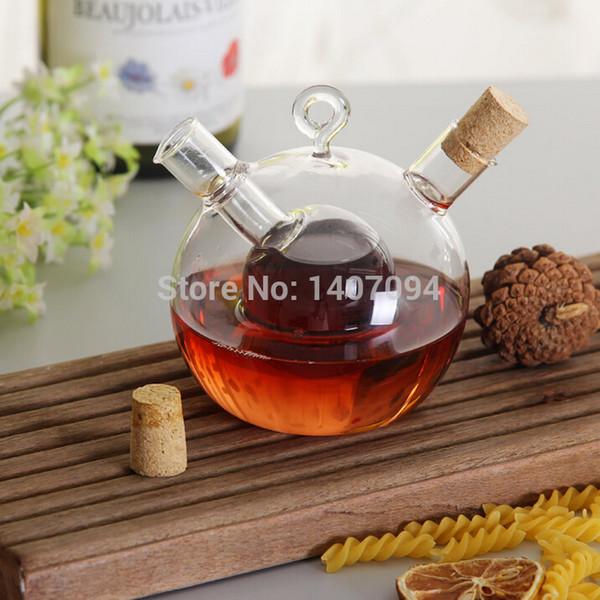 Vente en gros - Livraison Gratuite Bouteilles de vinaigre et d'huile en verre Bouteilles à condiments étanche aux fuites Joint Pot de Vinaigre Sauce Bateaux Outils de cuisson chaud