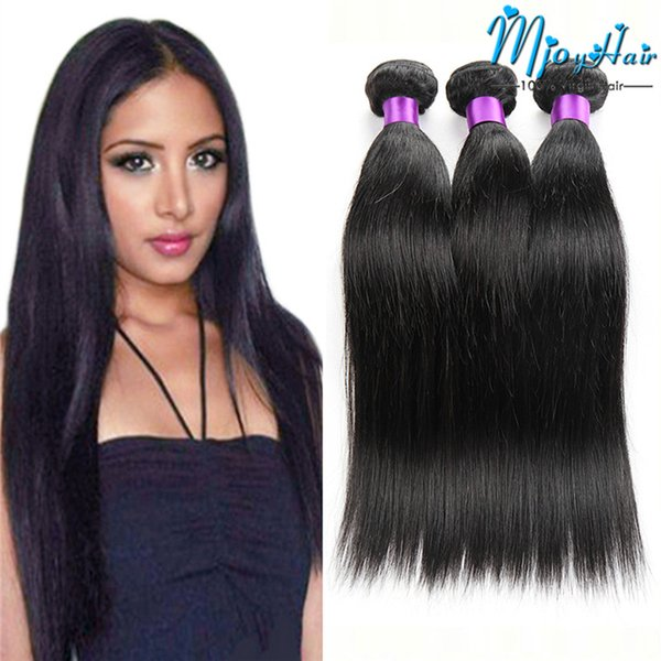 Remy Human Hair Bundles Virgin Brazilian Hair Weaves Straight Hair Extensions Natural Color 8-28 Inch DHgate Cheap Wet And Wavy 3 Bundles