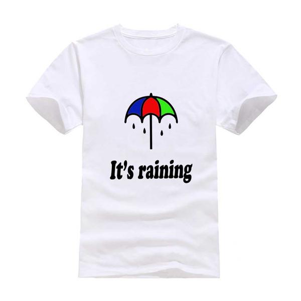 Rain umbrella 2017 New Clothes Fashion Man Casual T-Shirt Cotton O Neck Short Sleeve Loose Personalized unique Male Tops Tees Wholesale