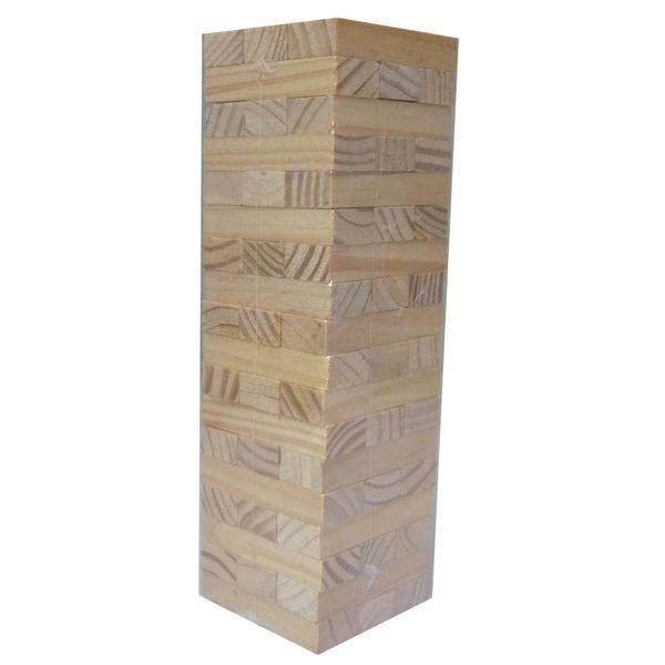 48pcs Mini Blocks Wooden Tumbling Stacking Tower Jenga Kids Family Party Board Game Baby Education Toy Children