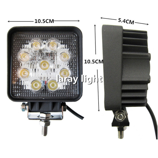 27W 9 LED Work Light Spot Beam Heading Light lamp Day Time Running Light for Off-road Truck 4WD 4x4 Motorcycle Boat