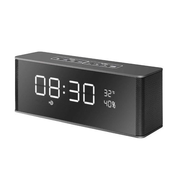 LP-06 Tragbarer Bluetooth-Lautsprecher 10W LED-Anzeige FM-Radiowecker Mic HIFI Mini Wireless Stereo Soundbar 2200mAh Bessere Ladung 3 Xtreme