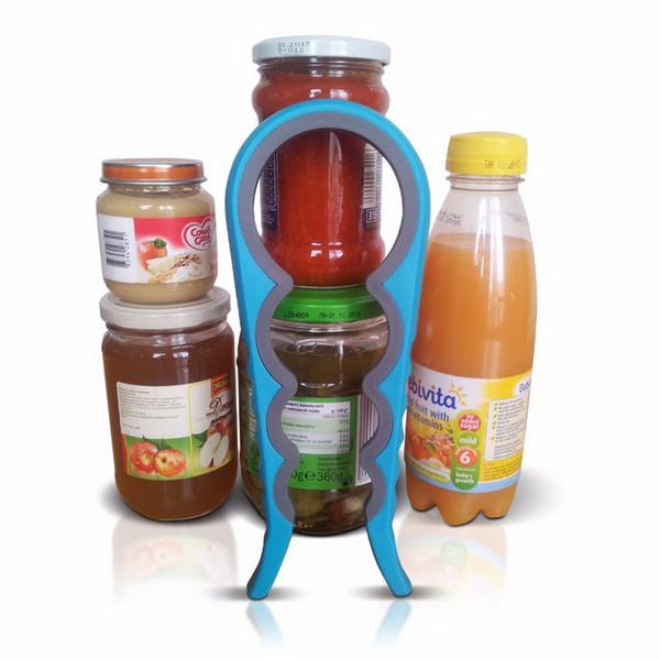 Mode Schraubverschluss Glas Flaschenschlüssel 4 in 1 Kreative Multifunktions Kürbisförmigen Dosenöffner Küche Werkzeug S201701