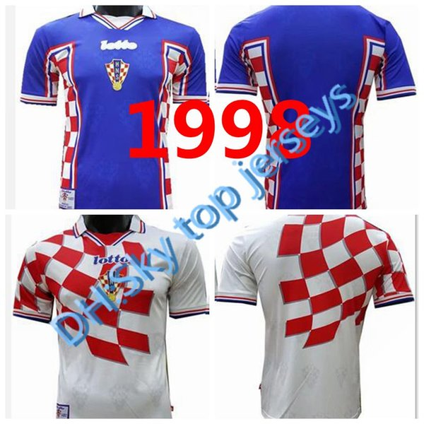 Retro 1998 Vintage MODRIC National Futbol Team Graphic Pullover Soccer Jerseys World Cup MODRIC Netherlands Croatiaes Football Shirts