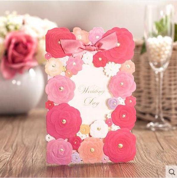 Dedicate Handmade Wedding Formal Invitation Card With Bow Creative Bauquet Dinner Invitation Cards New Arrival Recycled Wedding Invitations Seashell