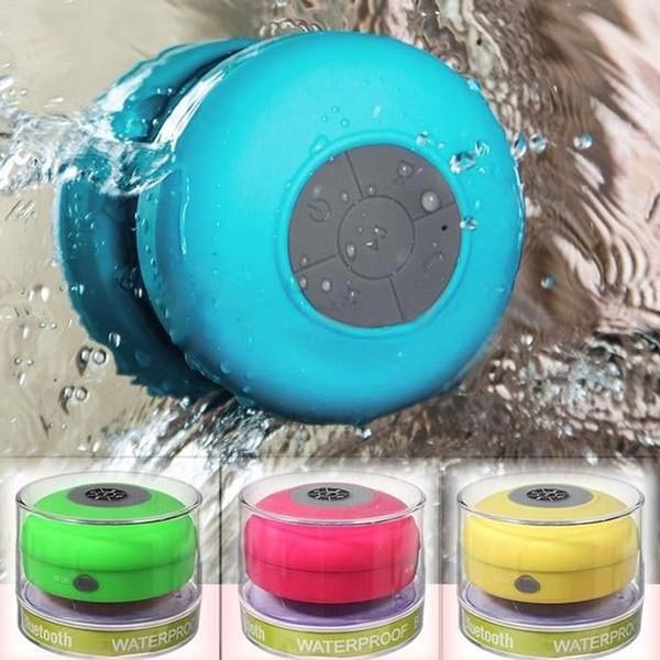 Atacado-impermeável Mini portátil banheiro chuveiro Bluetooth 3.0 alto-falante com otário apoio chamadas mãos-livres função para telefones móveis