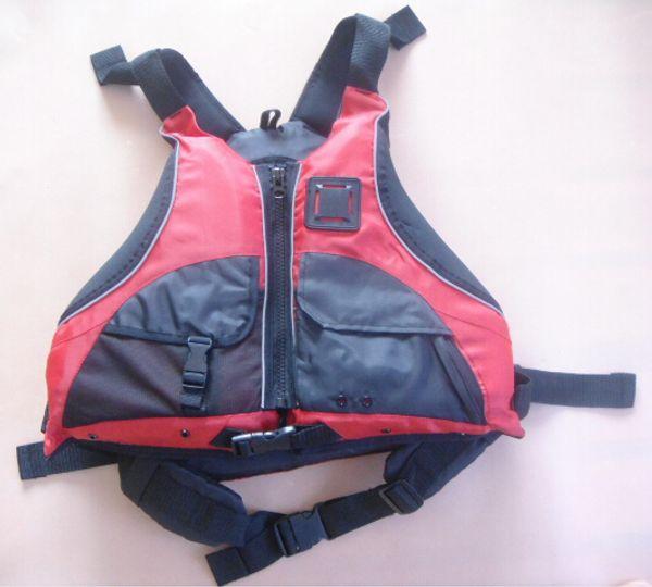 Chalecos salvavidas certificados por el CE del envío libre del estilo del kajak, chaleco salvavidas del chaleco salvavidas adulto del tamaño libre ayudas de flotación del color rojo PFD