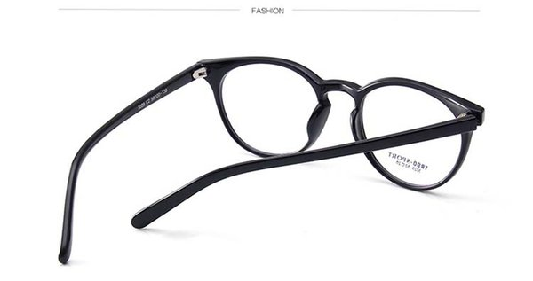 Tr 90 + Plastic Optical Eyewear Round Big Frame Full Rim Black ...
